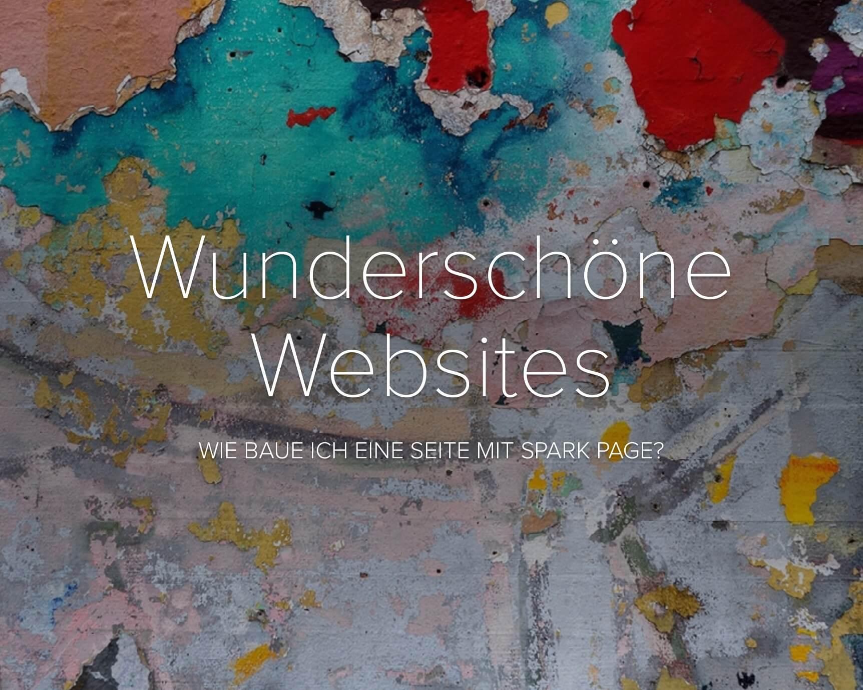 Wunderschöne Websites - eine SparkPage-Beispielseite mit Tutorial